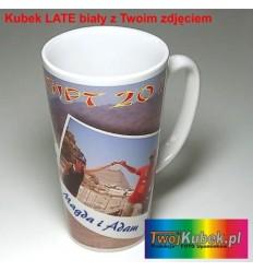 Kubek LATTE 450 ml biały z Twoim zdjęciem i dedykacją