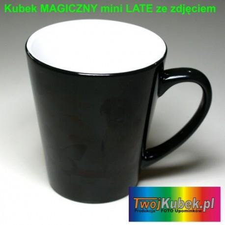 Kubek MAGICZNY LATTE 330 ml Czarny z Twoim zdjęciem i dedykacją