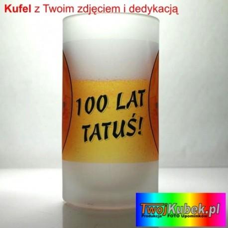 Kufel FOTO szklany z Twoim zdjęciem i dedykacją