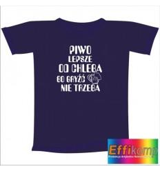 Śmieszna koszulka PIWO LEPSZE OD CHLEBA...