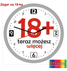 Zegar ścienny na 18-kę