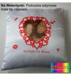 Satynowa FOTO poduszka ze zdjęciem na Walentynki