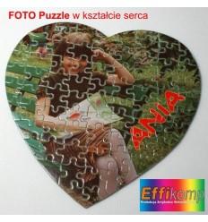 Super prezent Foto puzzle na Walentynki w kształcie serca