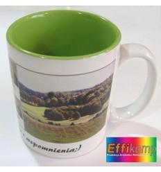 Kubek FOTO zielony z Twoim zdjęciem i dedykacją