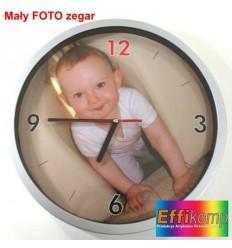 Zegar ścienny z dowolnym zdjęciem na prezent - mały