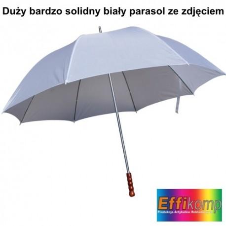 Duży biały parasol z Twoim zdjęciem i dedykacją