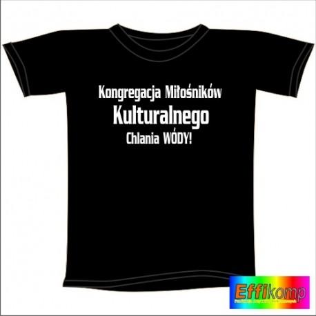 Śmieszna koszulka KONGREGACJA MIŁOŚNIKÓW CHLANIA WÓDY