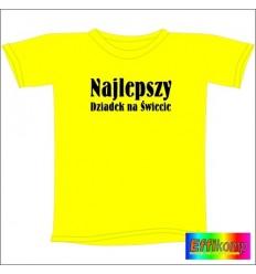 Śmieszna koszulka NAJLEPSZY DZIADEK NA ŚWIECIE