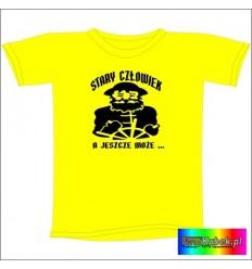 Śmieszna koszulka STARY CZŁOWIEK a JESZCZE MOŻE