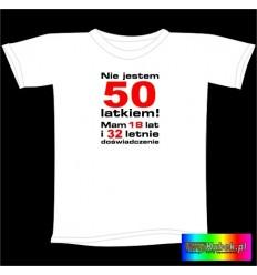 Śmieszna koszulka na 50 URODZINY