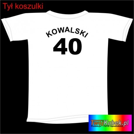Śmieszna koszulka z nazwiskiem na 40 URODZINY