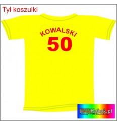 Śmieszna koszulka z nazwiskiem na 50 URODZINY