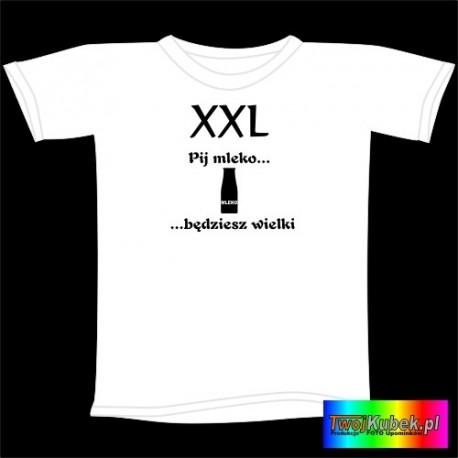 Śmieszna koszulka PIJ MLEKO BĘDZIESZ WIELKI