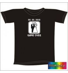 Śmieszna koszulka GAME OVER