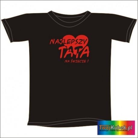Śmieszna koszulka NAJLEPSZY TATA