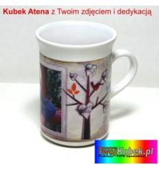 Kubek FOTO Atena biały z Twoim zdjęciem i dedykacją