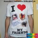 Oddychająca biała Koszulka FANTASY z Twoim dowolnym zdjęciem