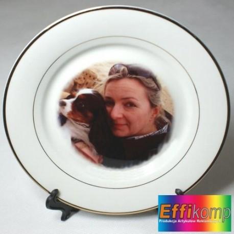 FOTO talerzyk biały z Twoim zdjęciem i dedykacją